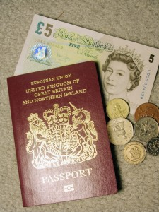 Picture of a passport for the United Kingdom. The Kingdom of Heaven - Like a foreign culture.